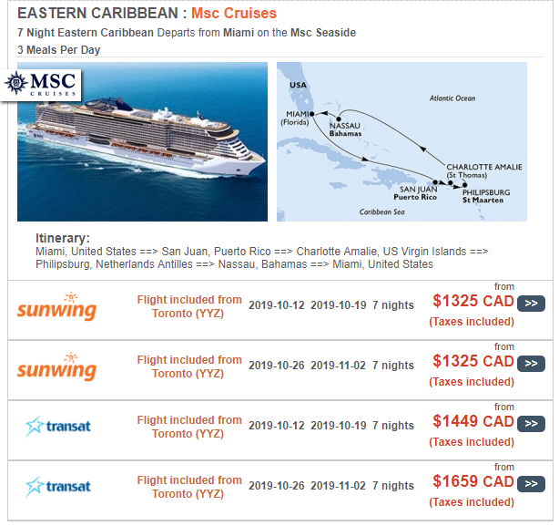 Cruise Package Eastern Caribbean
